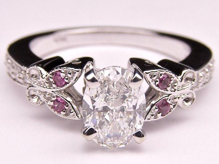 Diamond/platinum wedding ring
