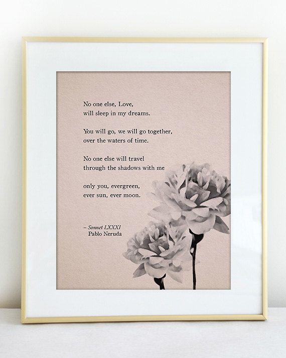 Pablo Neruda Gedichte Kunst Liebe Gedicht von Riverwaystudios