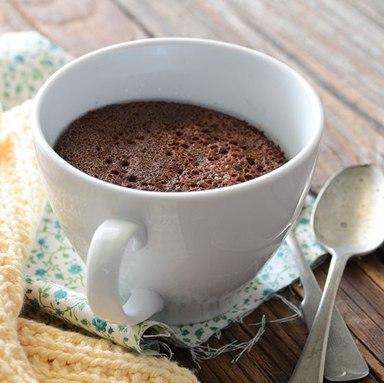And I'm not even paleo: A delicious 5 minute healthy chocolate mug cake, by An Edible Mosaic.