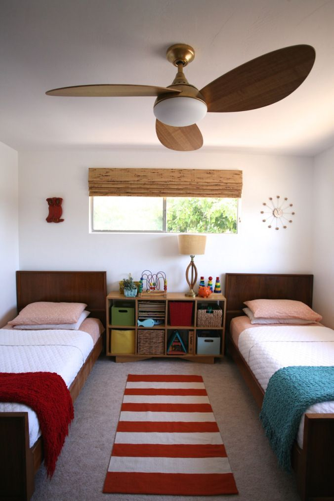 Modern Ceiling Fan Light Wood Mid Century Harbor Breeze Avian Sharedkidsrooms Kids Room Ideas Pinterest Bedroom Lighting