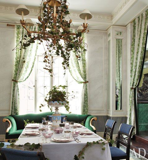 Jean-Paul Beaujard's New York City Apartment : Interiors + Inspiration : Architectural Digest. Green