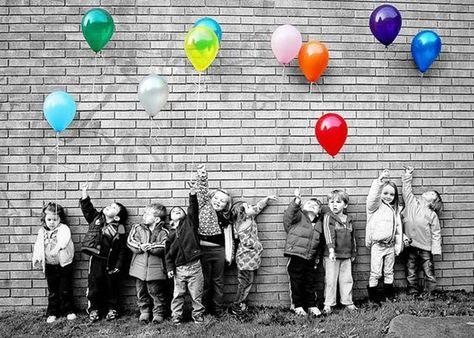 Idee für Kindergarten-Abschluss-Foto