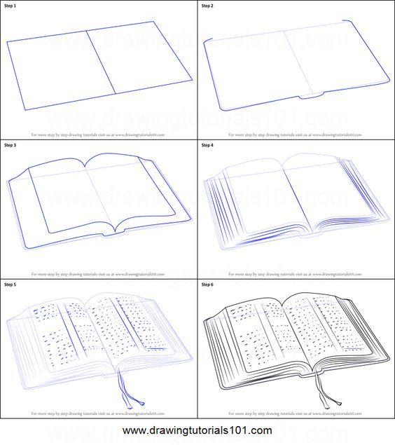 """Résultat de recherche d'images pour """"dessiner un livre ouvert"""""""