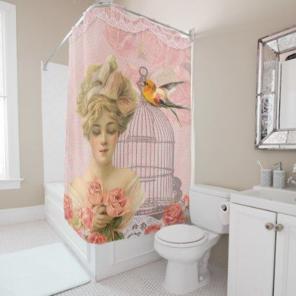 #createyourown #customize - #Pretty Vintage Elegant Victorian Shower Curtain