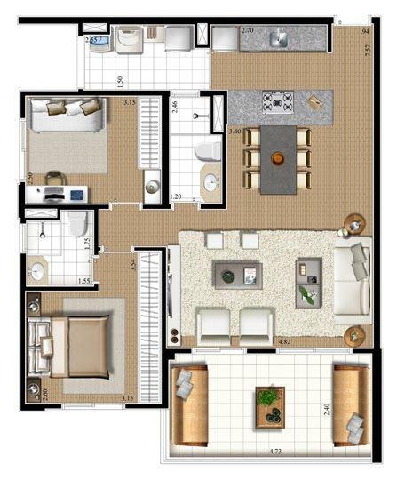 Plantas de casas americanas modelos casas modernas for Modelos de casas americanas modernas