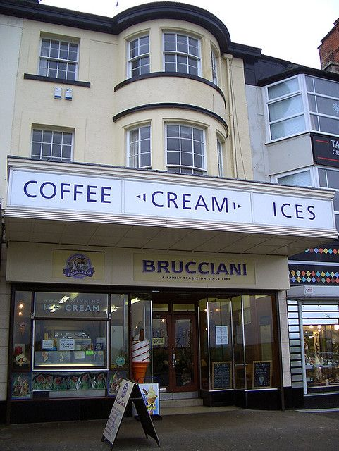 Traditional ice cream parlour in Morecambe... will no doubt pay it a visit on the Vintage by the Sea weekend!