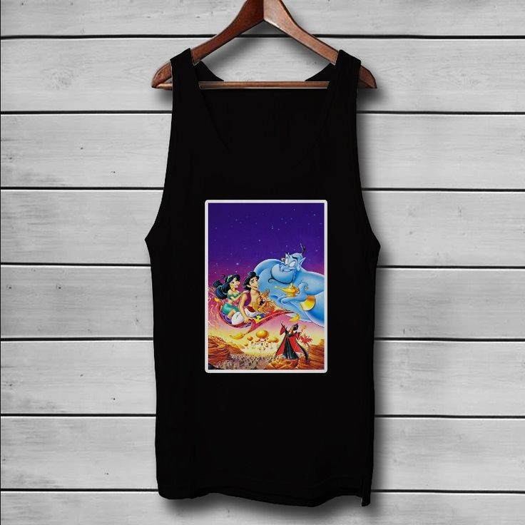 Disney Aladdin Characters Custom Tank Top T-Shirt Men and Woman