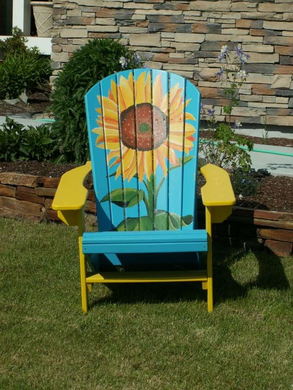 Sunflower Adirondack Chair $350.00 bahamamontanafurniture.com