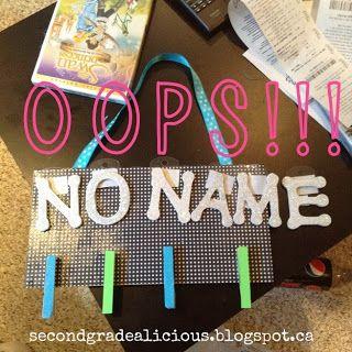 Secondgradealicious: no name board
