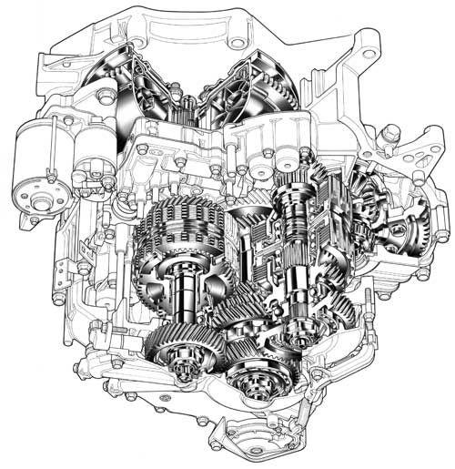 Mechanical Drawing Of Bmw R1150rt Engine