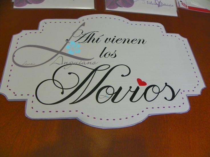 y si ponemos letreros en tu fiesta??? para la entrada de los Novios  ;) By Linda Anguiano