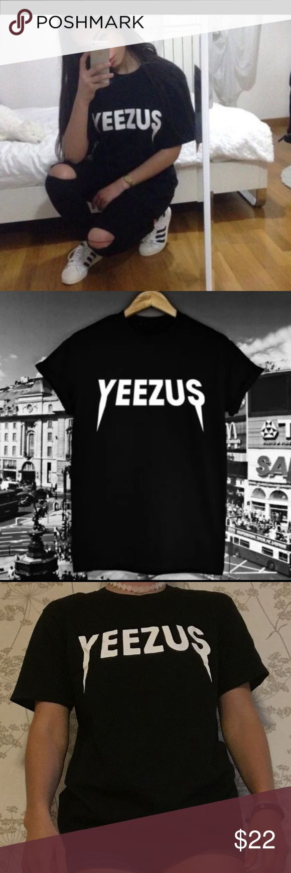 Black yeezus t shirt! ❤️ new in packaging Brand new, such a cute shirt inspired by Kanye west, ❤️ size small Tops Tees - Short Sleeve