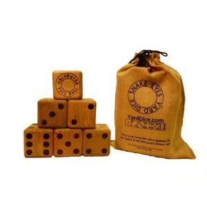 Yard Dice-- Lawn Yahtzee anyone???
