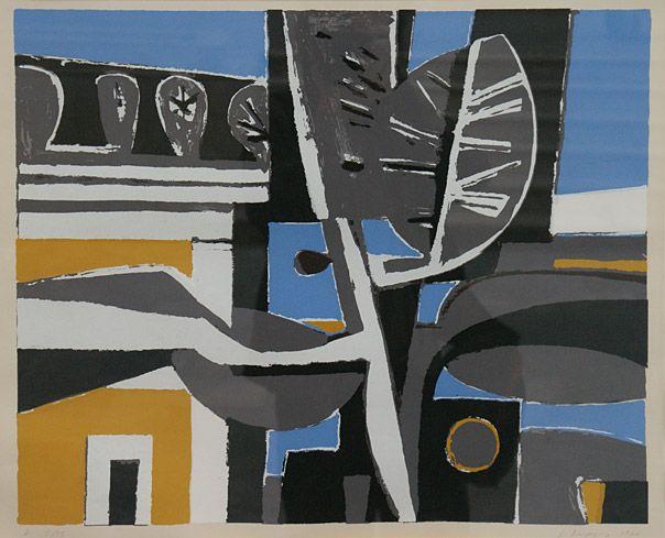 Yiannis Moralis (1916-2009), Aegean landscape, 1976