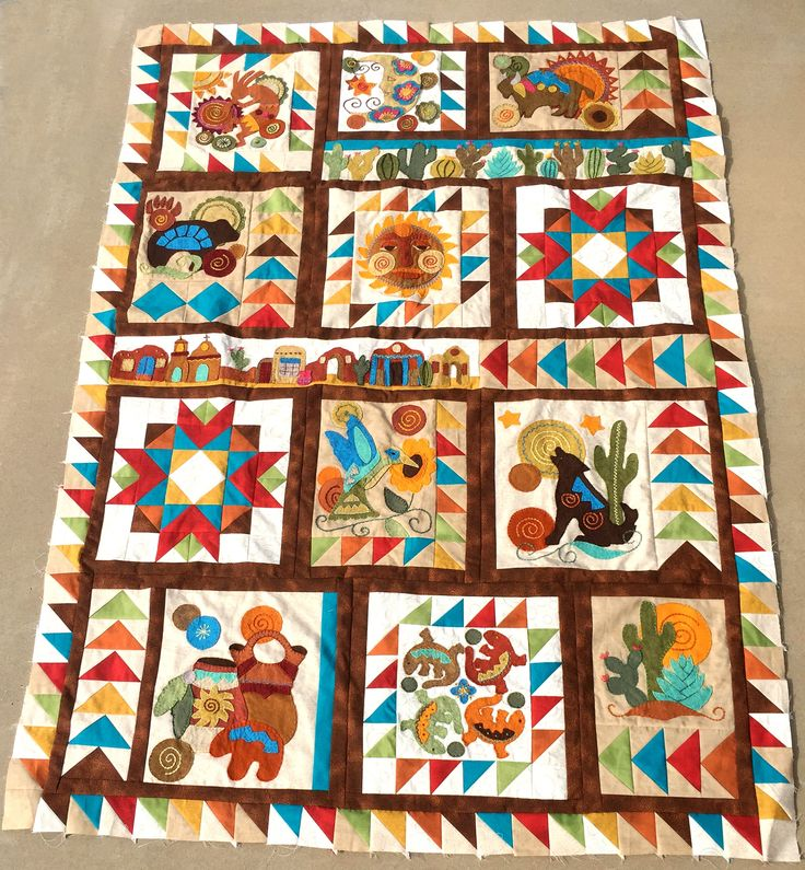 Sonoran Trail Block of the Month Sew Along- Free block patterns each month!  Starting April 1, 2018.
