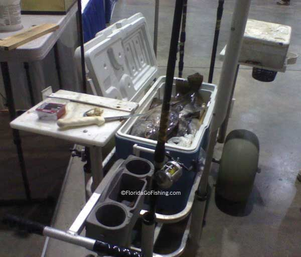 Fishing Carts are everywhere in Florida and some are so customized they are works of art!