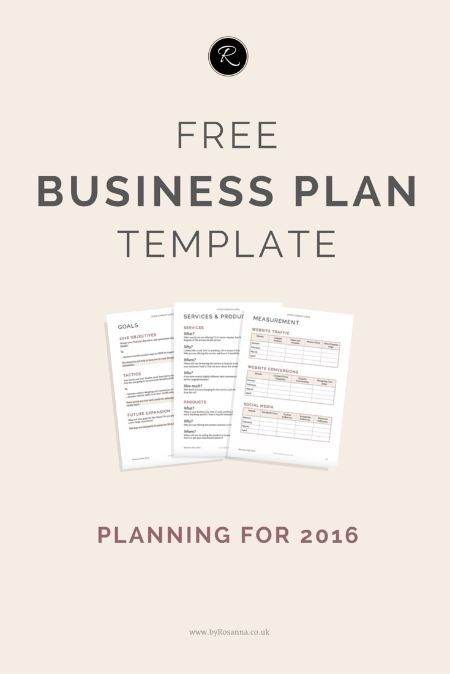 Get organised in 2016! Download this FREE Business Plan template (perfect for small businesses, entrepreneurs and biz bloggers!)