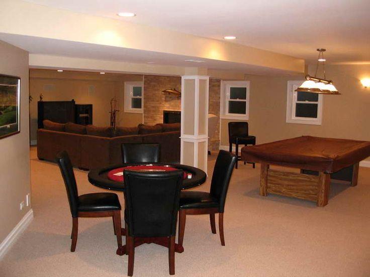 finished basement custom home decor - Home Basement Designs