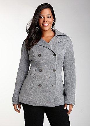 Lightweight Fleece Pea Coat
