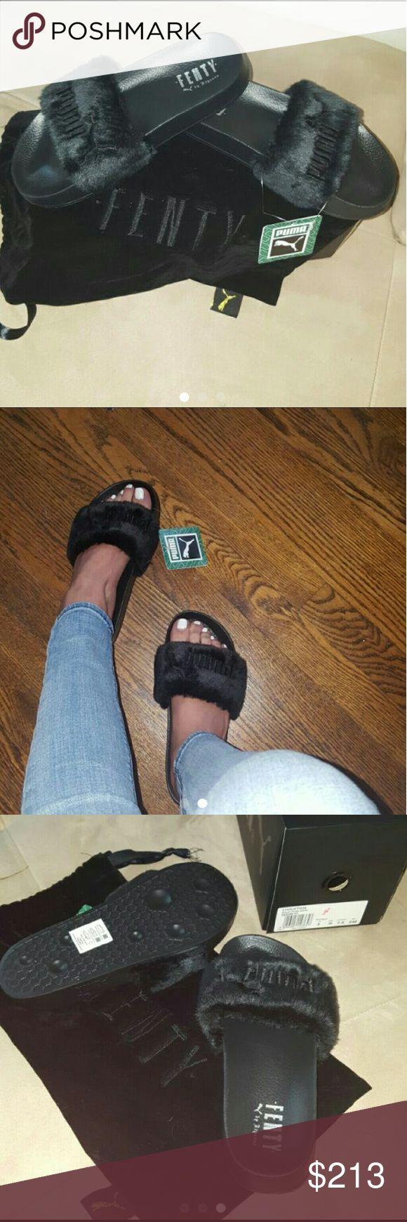SOLD Rihanna fenty puma slides Brand new comes with box and dust bag  No trades $150 on Merc@ri Rihanna Shoes Sandals