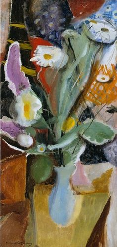 Ivon Hitchens works | Offer Waterman Daisies in a Blue Jar, c1943 / oil on canvas