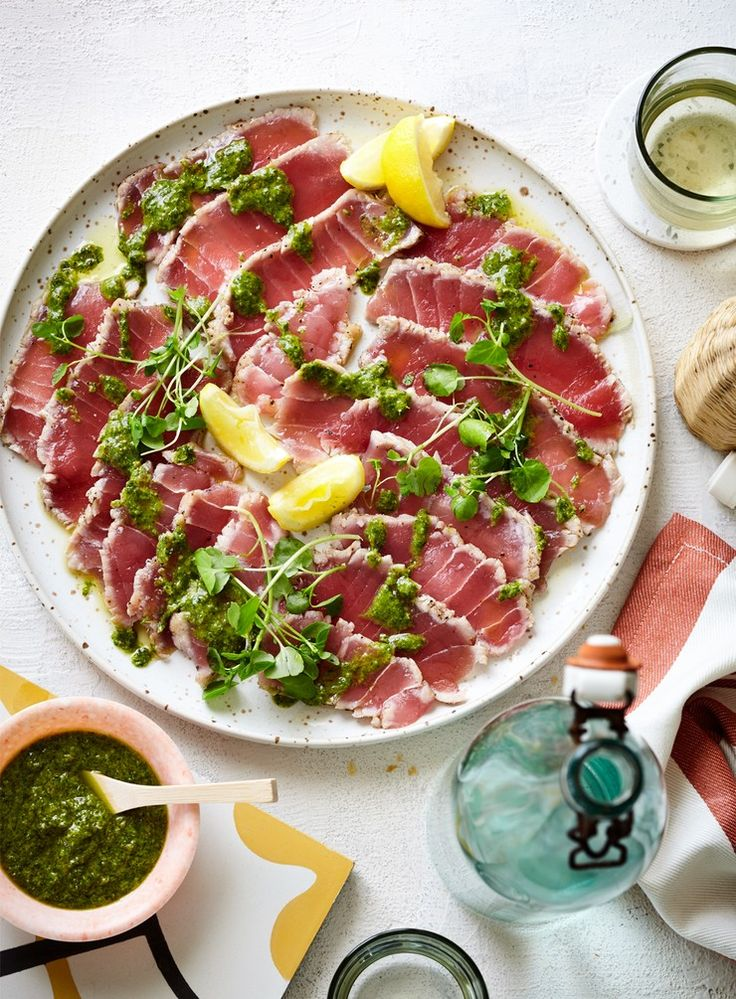Seared Tuna with Salsa Verde