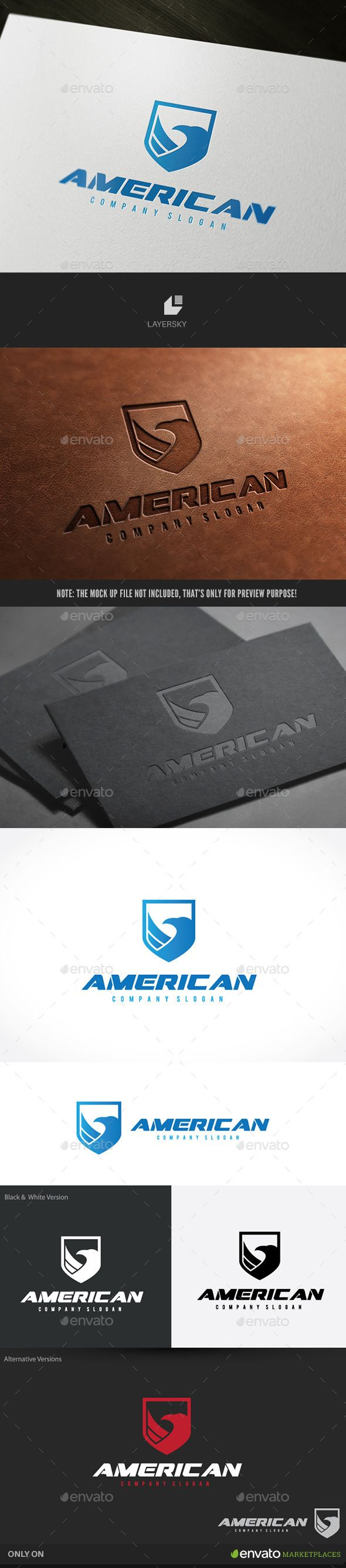 American Eagle Logo Template #design Download: http://graphicriver.net/item/american-eagle/10092870?ref=ksioks