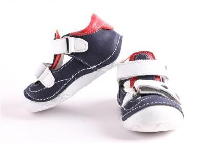 Pepee Erkek Çocuk Lacivert Kırmızı Hakiki Deri Phaylon Taban Ortopedik İlk Adım Bebe Ayakkabı