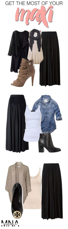 É totalmente possível usar saia longa no inverno ;)