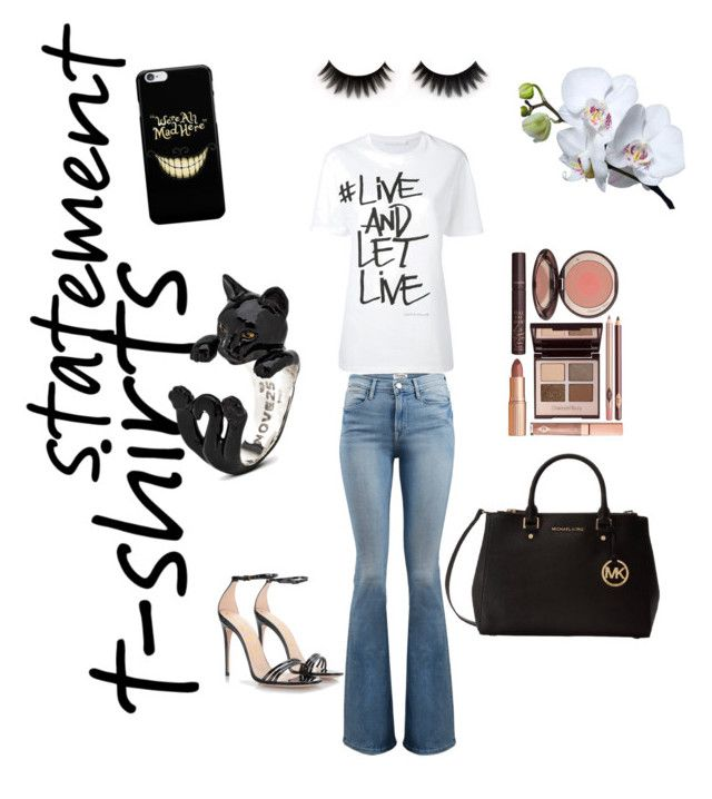 """T-shirts rock"" by tina-joplin on Polyvore featuring Neil Barrett, Frame, Gucci, Michael Kors and Charlotte Tilbury"