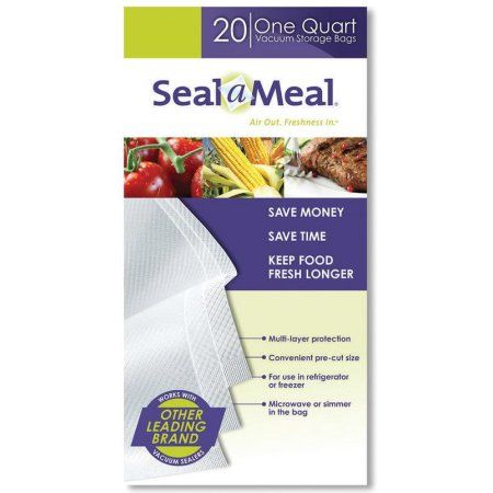 Seal-a-Meal 1-Quart Vacuum Storage Bags, 20ct
