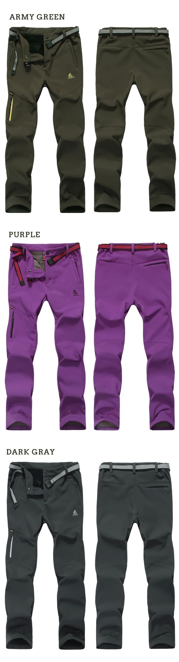Fleece Waterproof Hiking Skiing Pant Clothing, Shoes & Jewelry - Women - women's hiking clothing - http://amzn.to/2lL1pwW