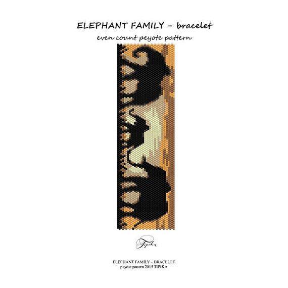peyote pattern beadwork elephant peyote bracelet by tipikabeadwork