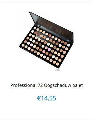 Professional 72 Oogschaduw make-up palet www.ovstore.nl/nl/professional-72-oogschaduw-palet.html