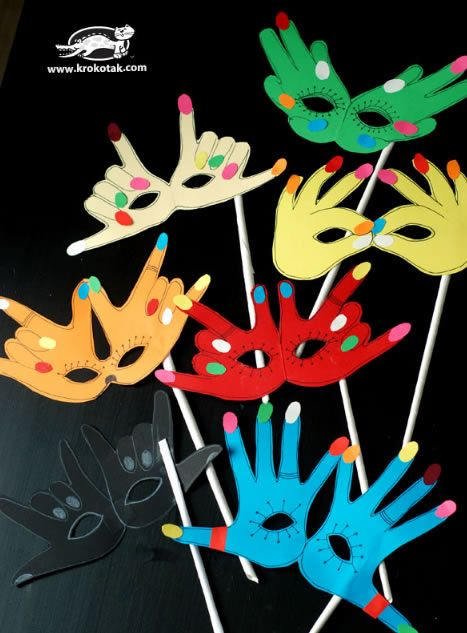 Máscaras de Carnaval para Crianças