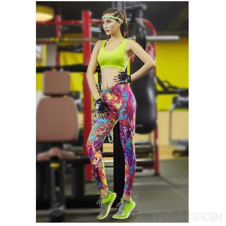 Women's Multi Coloured Sports Leggings   #white #excersice #model #sexy #mens #fashion #jogger #yoga #hoodie #black