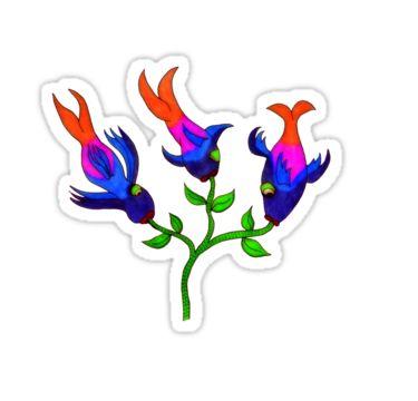 Fishy Flowers Sticker by StickerNuts