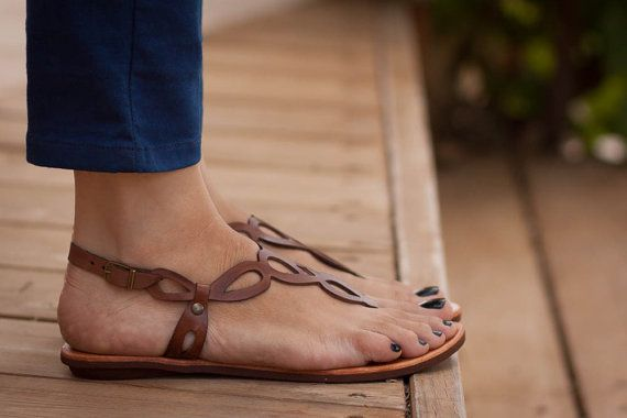 Hey, I found this really awesome Etsy listing at https://www.etsy.com/listing/193405944/20-sale-brown-leather-women-sandals-flat