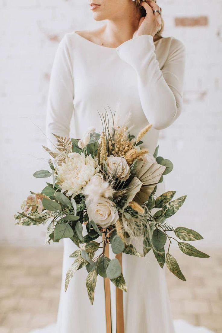 purple bridal bouquet eucalyptus elopement bouquet succulents wedding bouquet boho bouquet pink wedding flowers wildflower bouquet