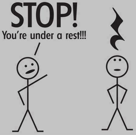 STOP! You are under arrest! My music teacher put this up in the the room one day. Everyone started laughing