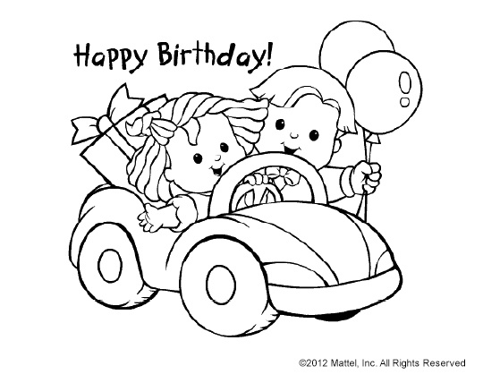 99 best images about Coloring Pages – Print and Color Birthday Cards