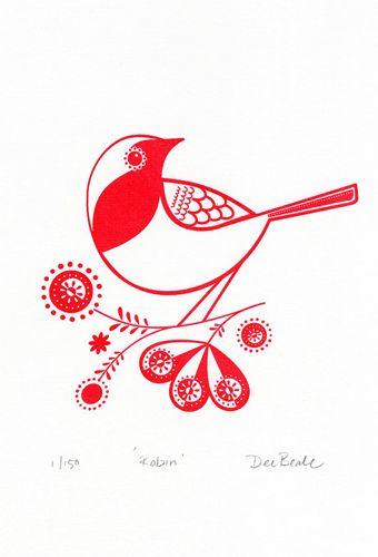 """""""Robin"""" by Dee Beale.  http://www.boxbird.co.uk"""