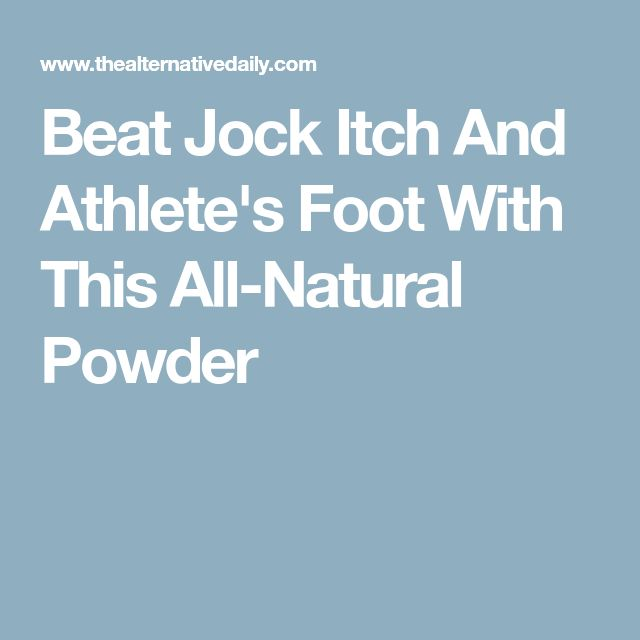 Beat Jock Itch And Athlete's Foot With This All-Natural Powder
