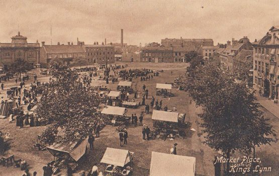 Kings Lynn Market Antique Norfolk Postcard | eBay