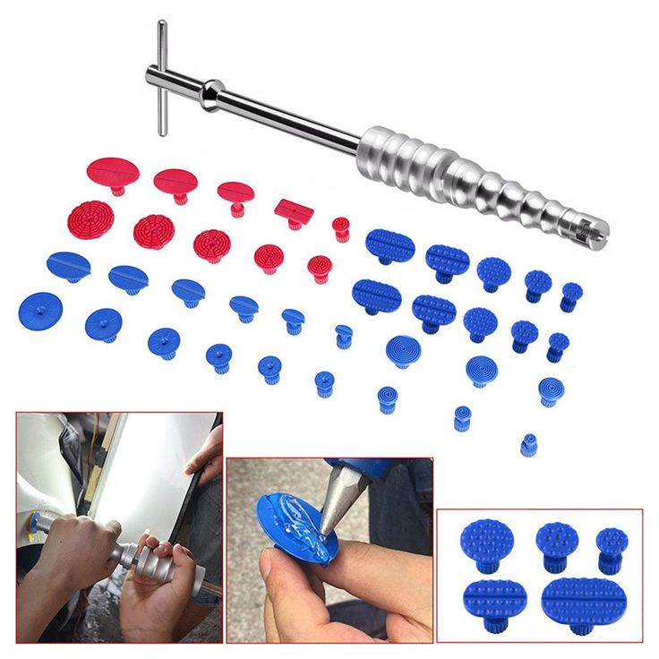 Auto Car Body Paintless Dent Repair Removal Tool Kits Silver Slide Hammer T-Bar Glue Puller Tabs PDR Tool Kit Hand Tool Set