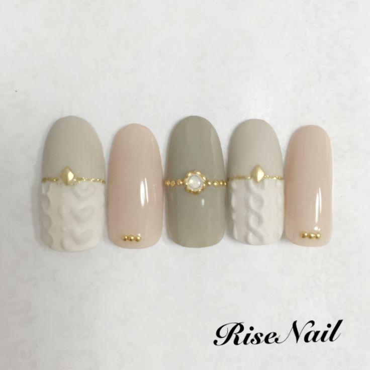 grey winter nail
