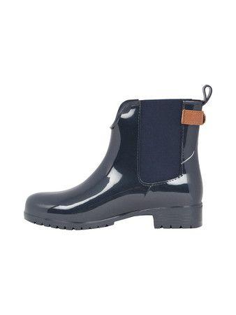 TOMMY HILFIGER Chelsea Boots aus Gummi in Marineblau | FASHION ID Online Shop