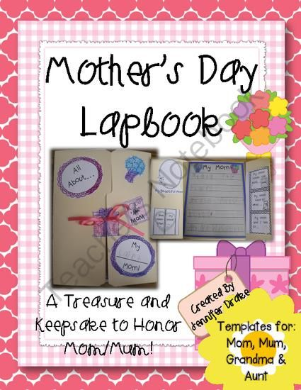 Teacher's Appreciation Giveaway!! Enter for your chance to win 1 of 2.  Mothers Day Lapbook! A Treasure & Keepsake to Honor Mom/Mum, Grandma & Aunt! (26 pages) from Jennifer Drake on TeachersNotebook.com (Ends on on 5-6-2014)  It's teacher appreciation week!  Show moms you appreciate them too when you have your students complete this lapbook as a gift!
