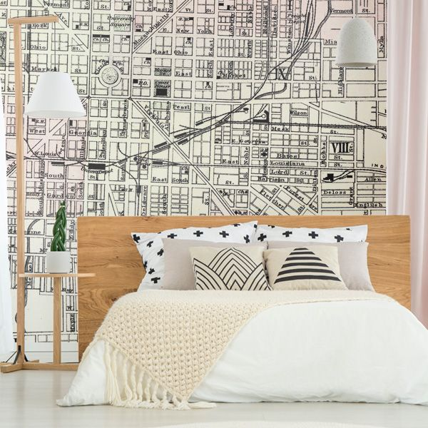 We Love How A Map Wallpaper Adds A Vintage Touch To Any Room Wallpaper Wallmural Vintagemap Mapwallpaper Be Map Wall Mural Wall Murals Bedroom Map Murals