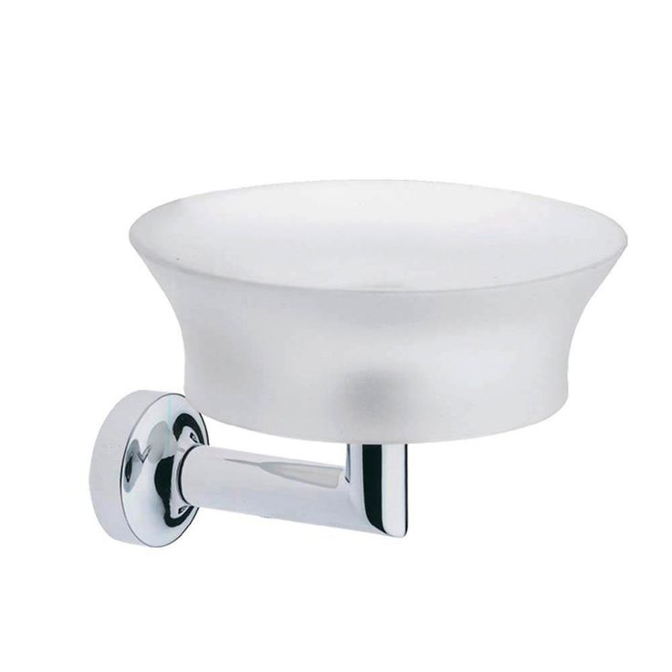 Artos S-04BN Silaro Soap Dish and Holder in Brushed Nickel